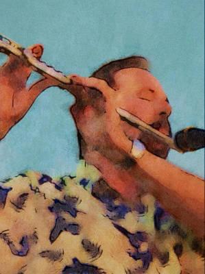 Photograph - The Flute Player by Gary De Capua
