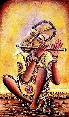Painting - The Flutist by Angu Walters