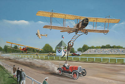 The Flying Circus Art Print by Kenneth Young