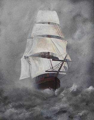 Painting - The Flying Dutchman by Virginia Coyle