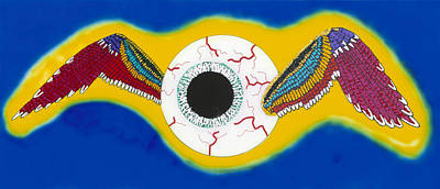 Painting - The Flying Eye by Patrick OLeary