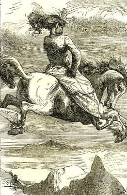 The Flying Horse 1866 Art Print