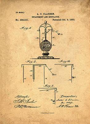 Pendulum Digital Art - The Flying Pendulum Clock  by Bill Cannon