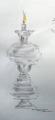 Candle Stand Painting - The Focus 07 by Mohd Raza-ul Karim