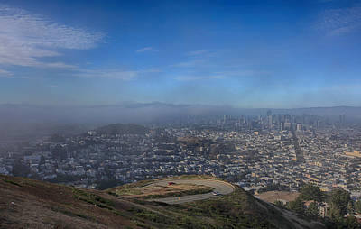 Downtown San Francisco Photograph - The Fog Is Rolling In by Laurie Search