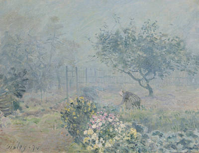 The Fog, Voisins, 1874 Art Print by Alfred Sisley