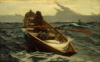 Mist Painting - The Fog Warning Winslow Homer 1885 by Movie Poster Prints