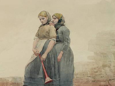 The Foghorn Art Print by Winslow Homer