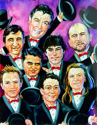 Caricature Artist Painting - The Follies by Hanne Lore Koehler