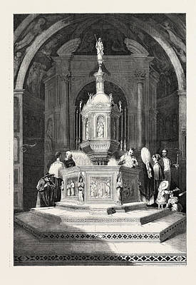 The Font In The Baptistery Of Sienna Cathedral Art Print