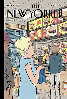 Fast Food Painting - The Food Chain by Daniel Clowes
