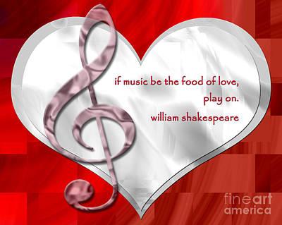 Digital Art - The Food Of Love - Shakespeare by Kristi Kruse