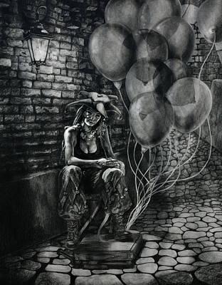 The Fool Dreamer Drawing Original