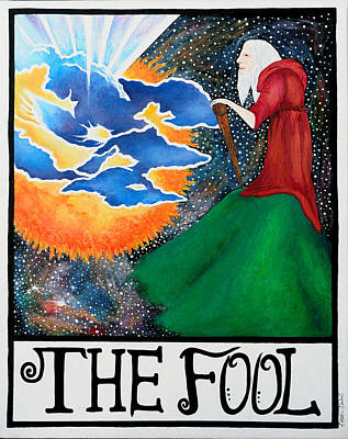 Buddah Painting - The Fool by Natalie Linder