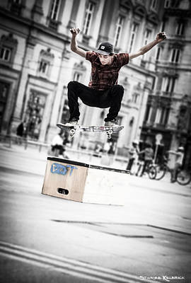 Photograph - The Fool Street Skater by Stwayne Keubrick