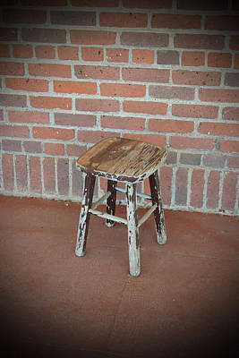 Foot Stool Photograph - The Foot Stool by Holly Blunkall