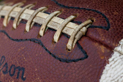 Footballs Closeup Photograph - The Football by David Patterson