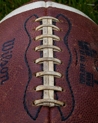 Footballs Closeup Photograph - The Football IIi by David Patterson