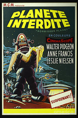 The Forbidden Planet Vintage Movie Poster Art Print by Bob Christopher