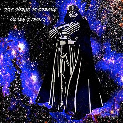 Painting - The Force Is Strong In My Family by Saundra Myles