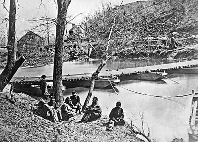 1863 Photograph - The Ford At Bull Run by Underwood Archives
