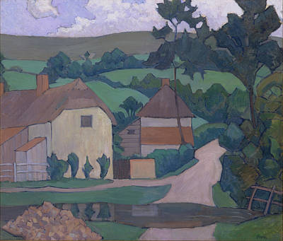 Bevan Robert Polhill 1865-1925 Painting - The Ford Signed In Blue Paint, Lower Right Bevan by Litz Collection