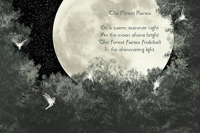 Fairy Poem Wall Art - Photograph - The Forest Fairies by Randi Kuhne