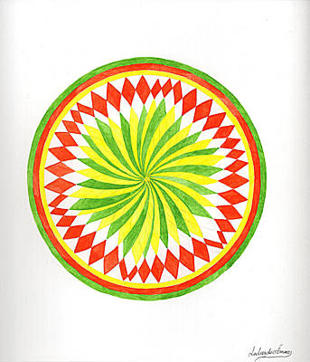 The Forest Mandala Art Print by Silvia Justo Fernandez