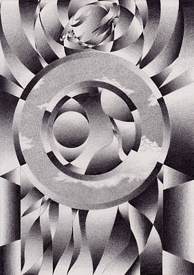 Abstract Design Drawing - The Forge Of Life by Herb Jordan