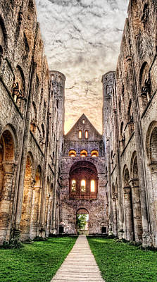Medieval Temple Photograph - The Forgotten Abbey 3 by Weston Westmoreland