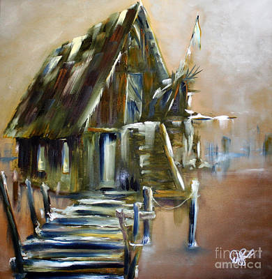 Painting - The Forgotten Shack by David Kacey
