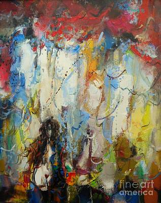 Abstract Painting - The Fornicatress  by Grigor Malinov