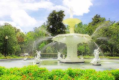 Savannah Parks Gardens Photograph - The Forsyth Park Fountain by Iryna Goodall