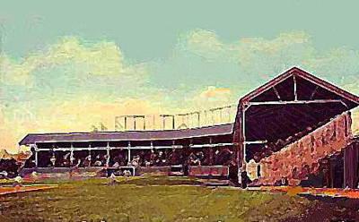 The Fort Wayne In Baseball Stadium Around 1910 Art Print by Dwight Goss