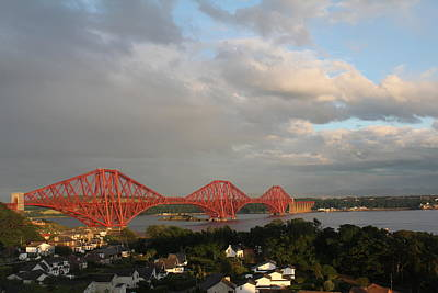Art Print featuring the photograph The Forth Bridge - Scotland by David Grant