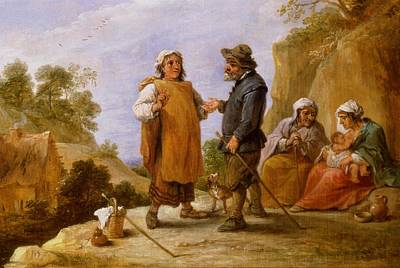 Avenir Photograph - The Fortune Teller by David the Younger Teniers