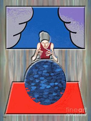 T- Ball Painting - The Fortune-teller by Patrick J Murphy