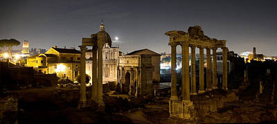 Photograph - The Forum Temples At Night by Weston Westmoreland