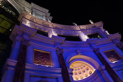 Photograph - The Forum Shops Glamorous Entrance At Night by Georgia Mizuleva