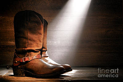 Found Wood Photograph - The Found Boots by Olivier Le Queinec