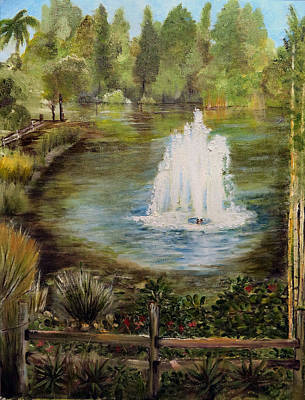 Painting - The Fountain by Arlen Avernian - Thorensen
