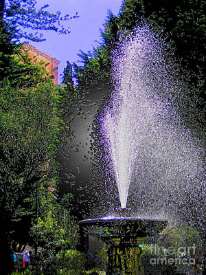 Immaculate Photograph - The Fountain In Parque Calderon by Al Bourassa