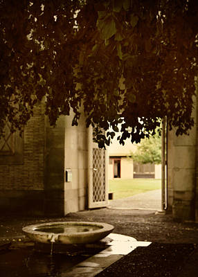 Entrance Door Photograph - The Fountain by Jessica Jenney
