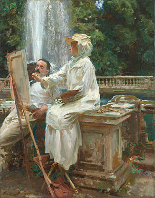 Villa Painting - The Fountain  by John Singer Sargent
