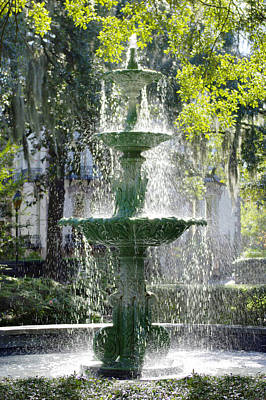 The Fountain Print by Mike McGlothlen