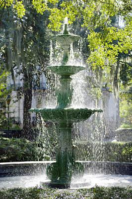 Bushes Digital Art - The Fountain by Mike McGlothlen