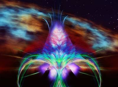 Apophysis Mixed Media - The Fountain Of Life by Mario Carini