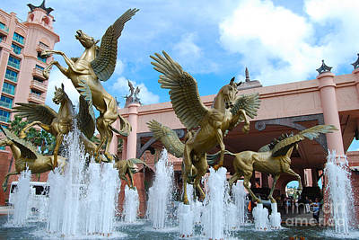 The Fountains At Atlantis Art Print