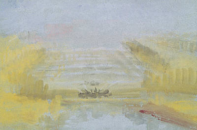 Turner Art Painting - The Fountains At Versailles by Joseph Mallord William Turner