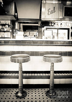 New Hampshire Photograph - The Four Aces Diner by Edward Fielding